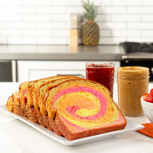 Irresistible slices of colorful and fun King's Hawaiian Rainbow Bread 1lb
