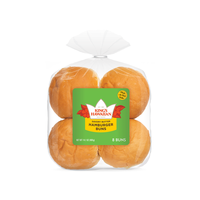 Image of Savory Butter Hamburger Buns in Packaging