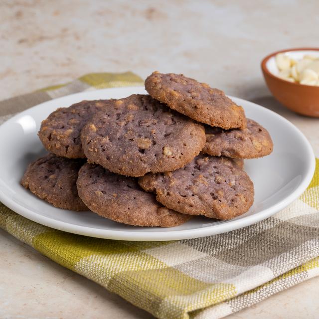 Purple Sweet Potato Crunch Cookies on Plate