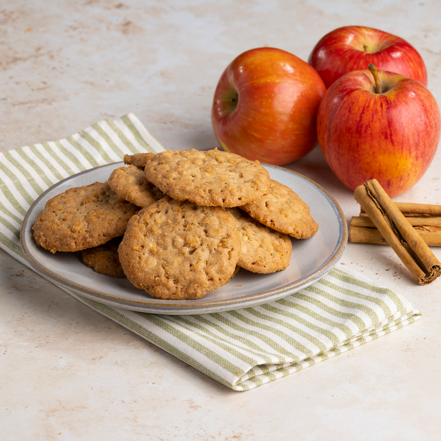 Apple Spice Crunch Cookies on Plate