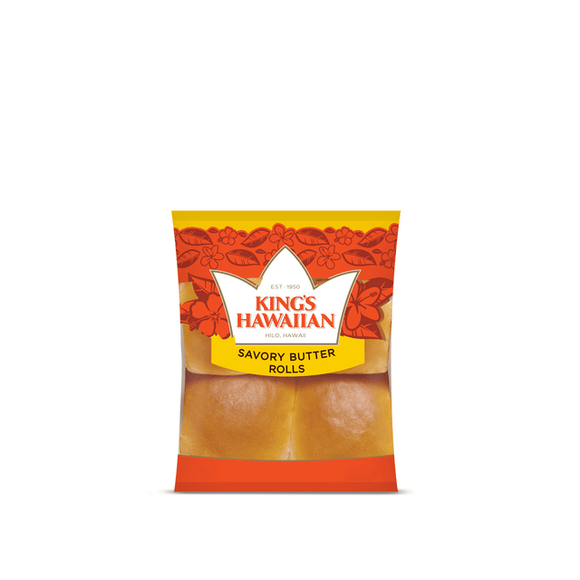 Pack of King's Hawaiian Savory Butter Rolls 4ct