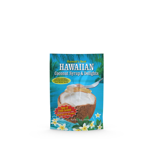 Package of King's Hawaiian Coconut Syrup Mix 4oz