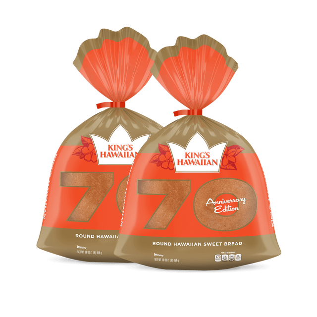Original Hawaiian Sweet Round Bread, 2 pack