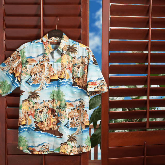 Stylish and sure-to-impress King's Hawaiian Men's Aloha Shirt Island Feast