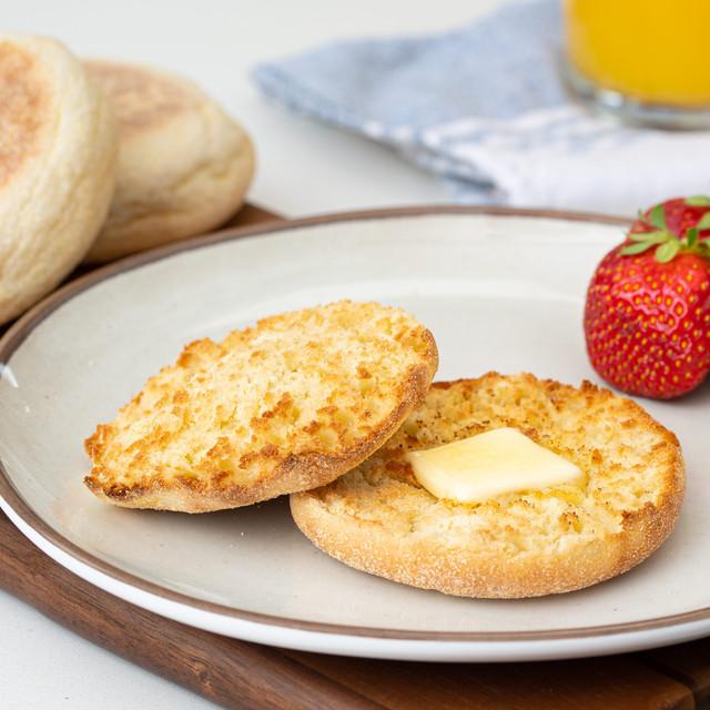 original hawaiian sweet english muffin with butter