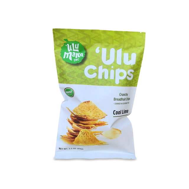 Ulu Mana Cool Lime 'Ulu Chips, 3.5oz