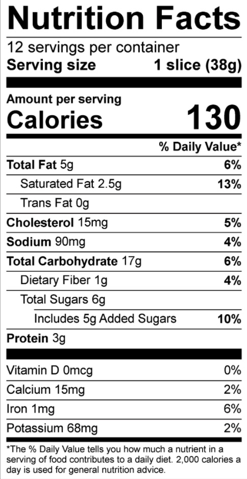 Nutrition statement