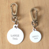 Dog Tag Collar Attachment - Lobster Claw Clip Swivel on tag samples