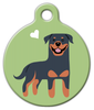 Dog Tag Art Rottweiler Doggie Pet ID Dog Tag