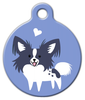 Dog Tag Art Papillon Doggie Pet ID Dog Tag