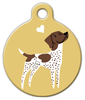 Dog Tag Art German Shorthaired Pointer Doggie Pet ID Dog Tag