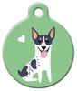 Dog Tag Art Rat Terrier Doggie Pet ID Dog Tag