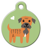 Dog Tag Art Border Terrier Doggie Pet ID Dog Tag