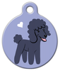 Dog Tag Art Poodle Doggie Pet ID Dog Tag