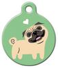 Dog Tag Art Pug Doggie Pet ID Dog Tag
