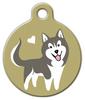 Dog Tag Art Husky Doggie Pet ID Dog Tag