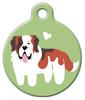 Dog Tag Art Saint Bernard Doggie Pet ID Dog Tag