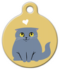 Dog Tag Art Scottish Fold Cat Pet ID Dog Tag