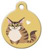 Dog Tag Art Maine Coon Kitty Cat Pet ID Dog Tag