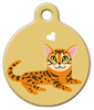 Dog Tag Art Bengal Kitty Pet ID Dog Tag
