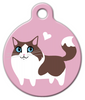 Dog Tag Art Ragdoll Pet ID Dog Tag