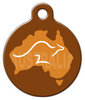 Dog Tag Art Aussie Kangaroo Pet ID Dog Tag
