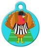 Dog Tag Art Football Turkey Referee Pet ID Dog Tag