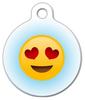 Dog Tag Art Heart Eyes Emoji Pet ID Dog Tag