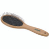 Safari Wire Pin Dog Brush with Bamboo Handle