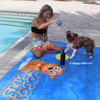 Nova and Mom Ashley Playing Poolside With The Pro Fit Foam Dog Toy Rope Ball 13 Inch (84800BLLDOG)