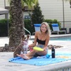 Nova and Ashley Poolside Play with the Pro Fit Foam Flying Disc Dog Toy 9 Inch (84802YLWDOG)