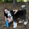 Henry and Mom Enjoying A Hike Wearing Coastal Pet Ribbon Weave Dog Collar and Leash