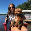 Its a beautiful day wearing Coastal Pet ribbon weave dog leash