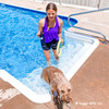It's a fun day at the pool for Mylo with the Coastal Pet Pro™ Fit Mega Ring