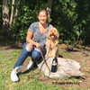 millerthelabradoodle and his mom enjoying a day at the park wearing circle t by coastal pet latigo leather leash and collar with solid brass hardware