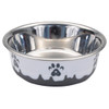 Maslow™ Design Series Paw Bowl Small (88420) White With Grey