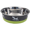 Maslow™ Design Series Pup Bowl (88450) Grey With Green