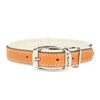 Circle T Double-Ply Fashion Leather Collar Tan and Cream