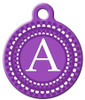 Dog Tag Art™ Purple Dots Monogram A-Z Dog Tag For Dogs (DTA-M03)