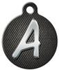 Dog Tag Art™ Chrome Monogram A-Z Dog Tag For Dogs (DTA-M08)