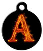 Dog Tag Art™ Fire Monogram A-Z Dog Tag For Dogs (DTA-M09)