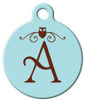 Dog Tag Art™ Owl Monogram A-Z Dog Tag For Dogs (DTA-M10)