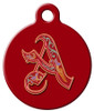 Dog Tag Art™ Royal Monogram A-Z Dog Tag For Dogs (DTA-M13)