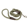 Water&Woods™ Braided Rope Snap Dog Leash Green and White