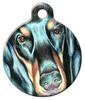 Dog Tag Art Illustrated Doberman Pet ID Dog Tag