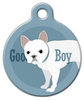 Dog Tag Art Good Boy French Bull Dog Pet ID Dog Tag