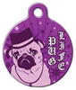 Dog Tag Art Pug Life Pet ID Dog Tag