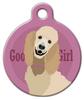 Dog Tag Art Good Girl Standard Poodle Pet ID Dog Tag