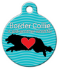 Dog Tag Art Border Collie Love Pet ID Dog Tag