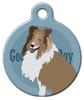 Dog Tag Art Good Boy Collie or Shetland Sheepdog Pet ID Dog Tag